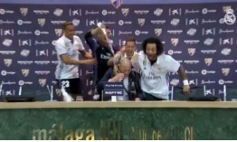 ¡Bañan a Zidane en plena conferencia de prensa! (Video)